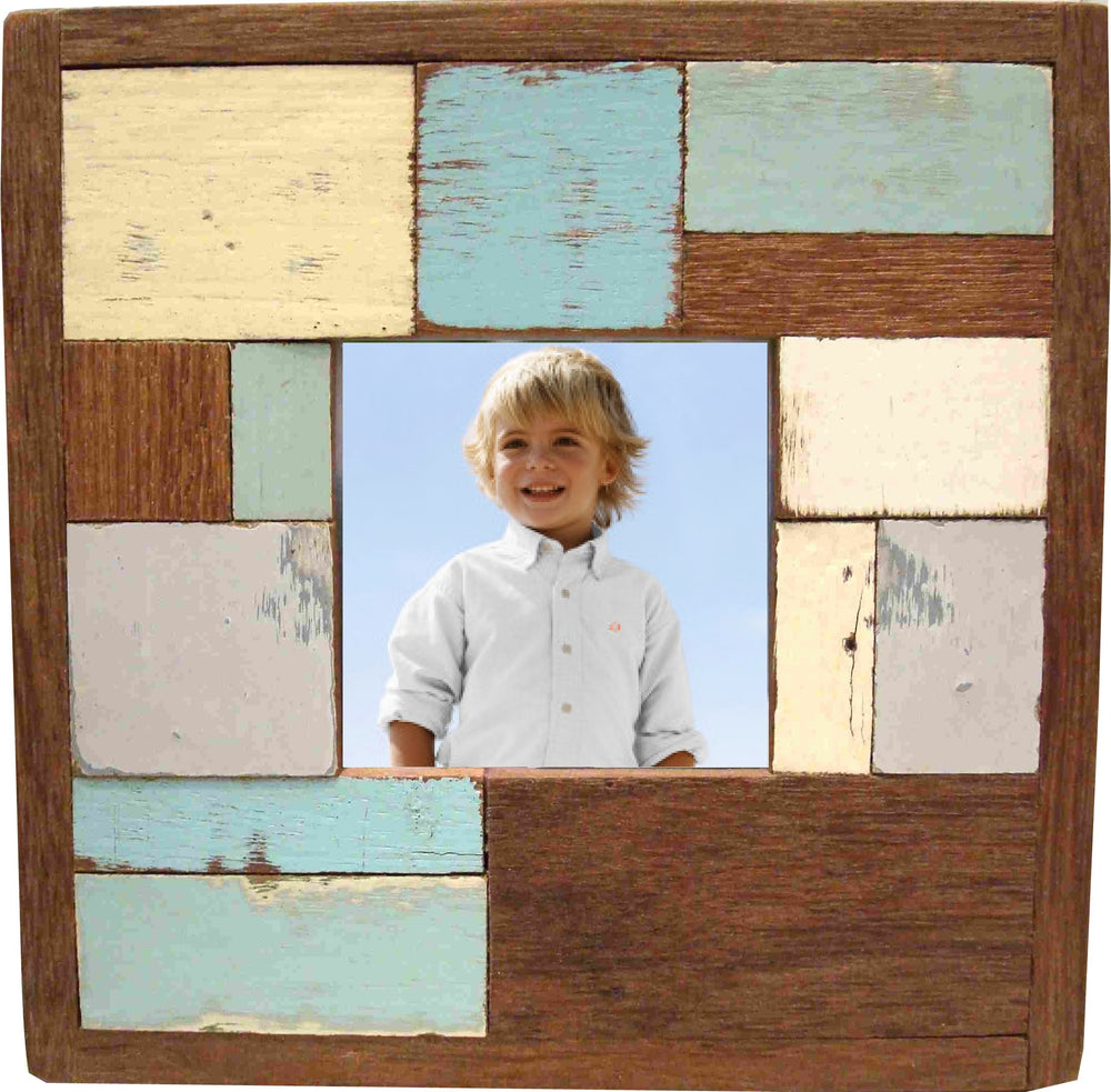 Frame RW Multi Blue Green Wide Block 9x9