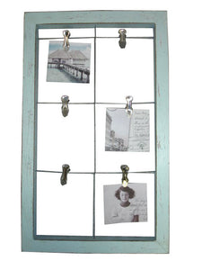 "LLI245-DC: Frame Wire 6 Divider Pale Blue 13x21.5x1.25"".. - Blue Rooster Trading"