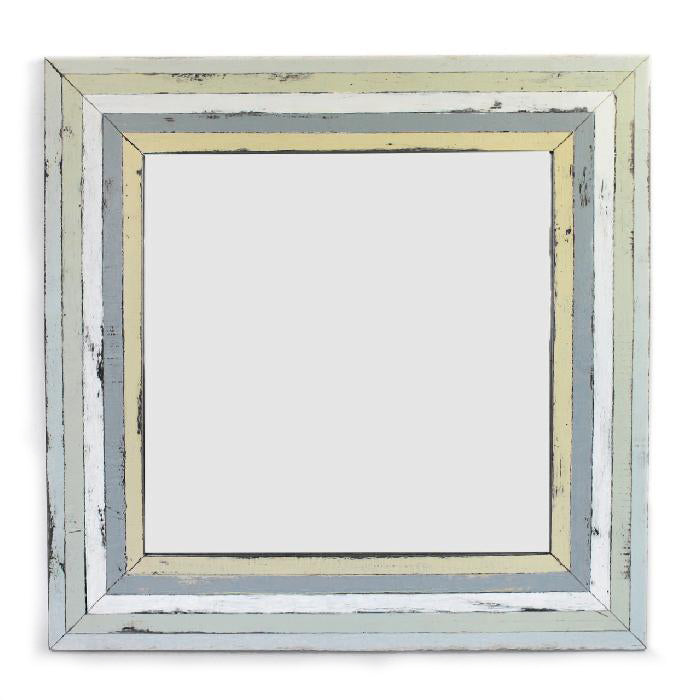 "Load image into Gallery viewer, Mirror Square 24"" - Rustic White"
