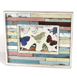 "Frame 9.5x11.5"" - Blue/White/Peach - Blue Rooster Trading"
