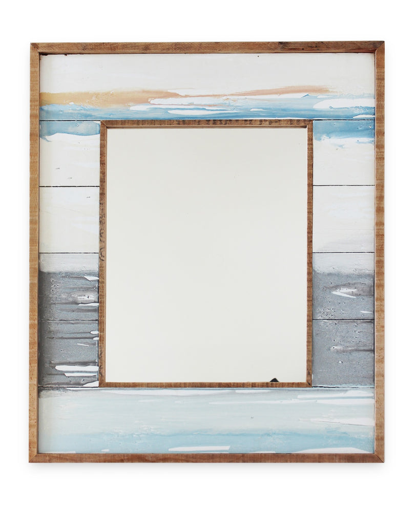 "Mirror WC Sunset 22x26"" - Rustic White - Blue Rooster Trading"