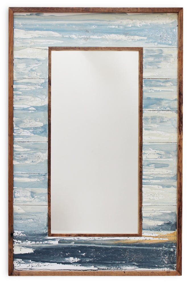 "Load image into Gallery viewer, Mirror WC Ocean 20x36"" - Ocean Blue - Blue Rooster Trading"