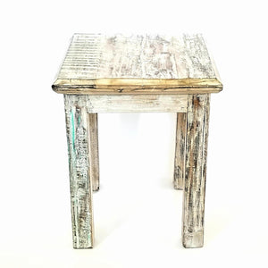 Bombay Square Rustic Side Table