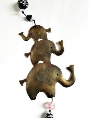 Elephant Family Metal Chime