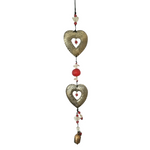 Double Hearts Metal Chime