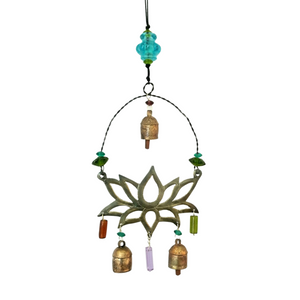 Load image into Gallery viewer, Serene Lotus Metal Chime