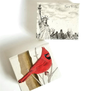 Hand Crafted Rectangular Note Cards