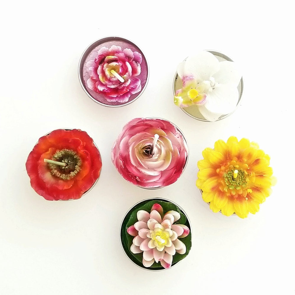 Load image into Gallery viewer, Floral Tealights Assortment
