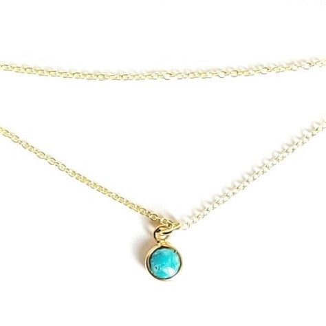 Gem Stone Carded Necklace