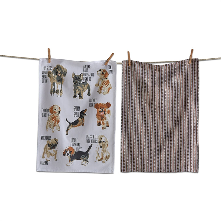 Load image into Gallery viewer, Friendly Dogs Dishtowel S/2