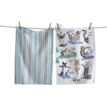 Yoga Kitty Dishtowel
