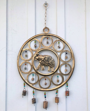 Load image into Gallery viewer, Elephant Brass Wind Chime