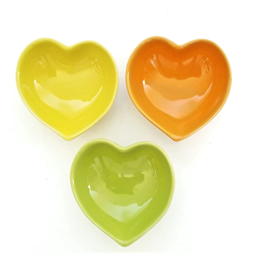 Citrus Ceramic Heart Dish Set
