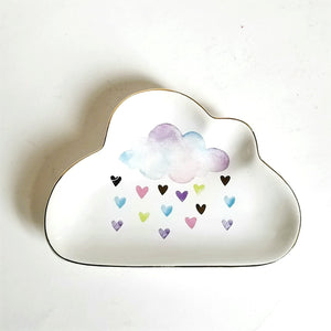 Cloud & Hearts Ceramic Tray