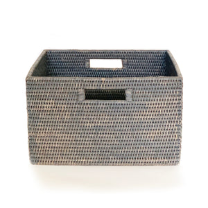"Classic Storage Basket w/ Cut Out Handles 15 x 14 x 9""H"