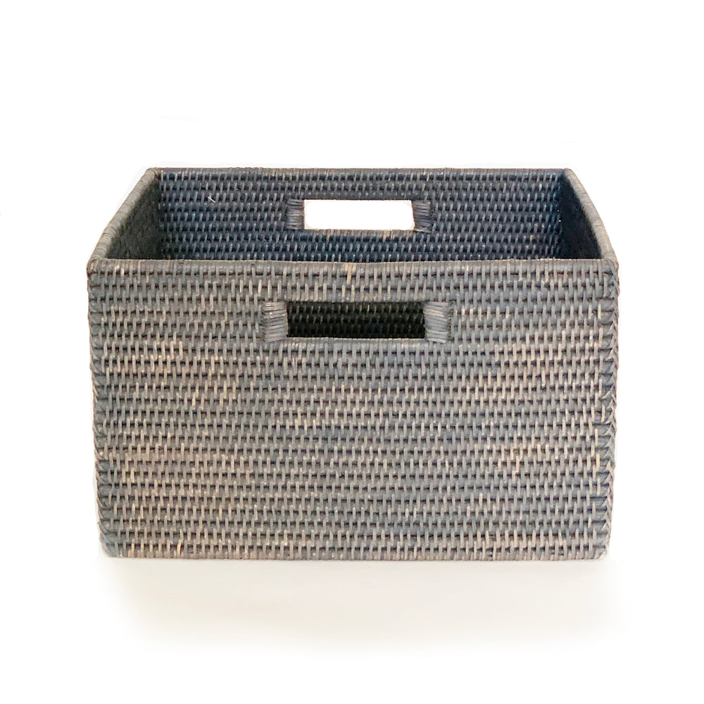 "Load image into Gallery viewer, Classic Storage Basket w/ Cut Out Handles 15 x 14 x 9""H"