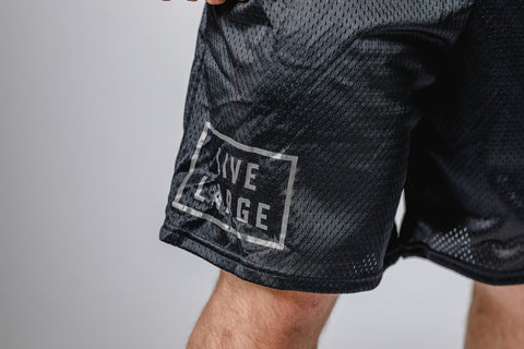 Blackout Logo Champion Mesh Shorts W/Pockets