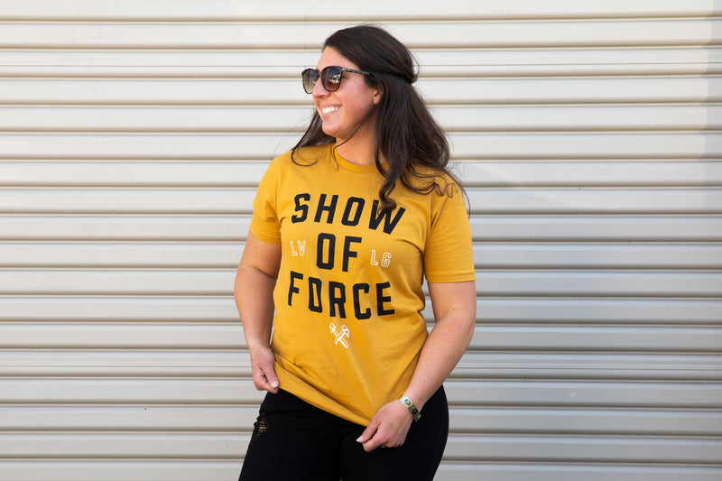 Gold Show Of Force Tee