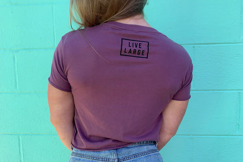 Purple LVLG Crop Tee