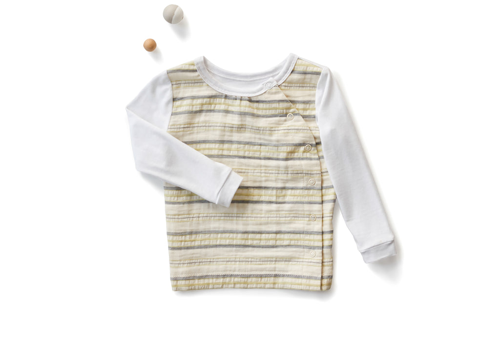 Organic Infant Boy's Long Sleeve Lounge / Pajama Shirt | Off White