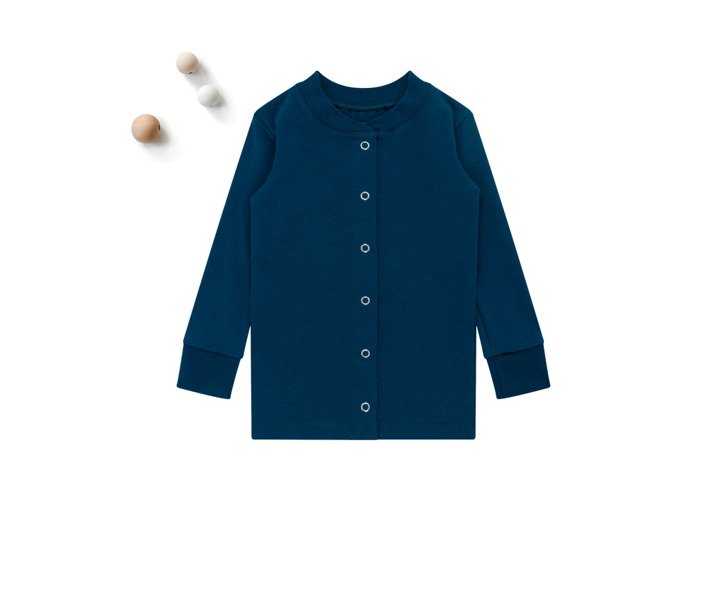 ZO & AV Little Lounge Top Long Sleeve / Pajama Shirt | Ocean Blue
