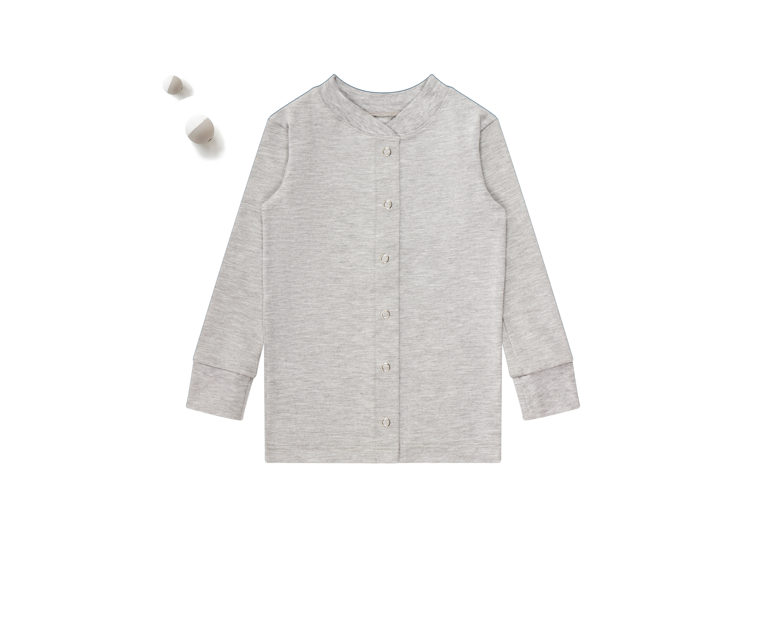 ZO & AV Little Lounge Top Long Sleeve / Pajama Shirt | Heather Gray