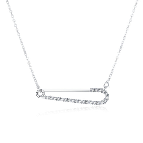Lover Attach Necklace safety pin necklace 925 925k sterling silver neclace gift birthday diamond jewelry circle of life necklace with cross heartOnthologie fine jewelry Onthologie Onthologie jewelry 18k gold diamond