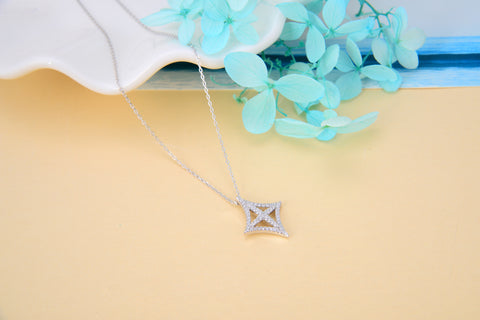 Eastern Tulip Necklace 925 925k sterling silver neclace heart cross jewelry neclace with cross circle of life gift birthdayOnthologie fine jewelry Onthologie Onthologie jewelry 18k gold diamond