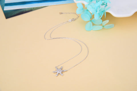 Snowflake Necklace 925 925k sterling silver women neclace gift birthday jewelry cherry neclace heart circle of lifeOnthologie fine jewelry Onthologie Onthologie jewelry 18k gold diamond