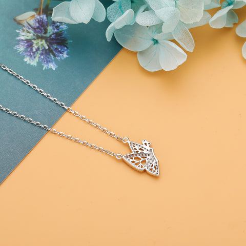 Wings to Fly Necklace  925 925k sterling silver gold white rosegold women women's neclace with heart cross circle of life diamond swarovski  pandora jewelry gift birthdayOnthologie fine jewelry Onthologie Onthologie jewelry 18k gold diamond solid sterling silver