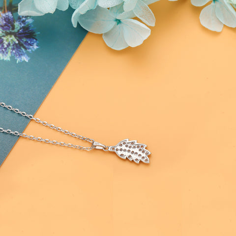 Leaf Necklace 925 925k Sterling Silver gold white rose Pandora women necklace jewelry jewellry neclace with cross heart rack cherry circle rubber hemp gift birthdayOnthologie fine jewelry Onthologie Onthologie jewelry 18k gold diamond