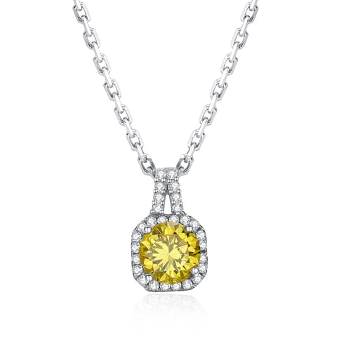 Diamond Cut Gemstone Necklace 925 925k sterling silver gold citrine stone white pink rosegold women women's neclace with heart cross life of circle jewelry gift birthdayOnthologie fine jewelry Onthologie Onthologie jewelry 18k gold