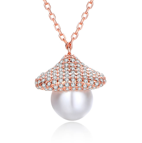 Freshwater Cultured Pearl Bungalow Necklace 925 925k sterling silver women neclace heart cross jewelry women circle of life necklace pendant gift birthdayOnthologie fine jewelry Onthologie Onthologie jewelry 18k gold diamond