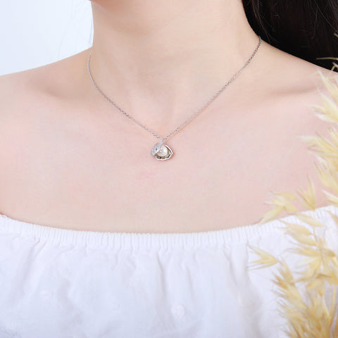 Freshwater Cultured Genuine Pearl Shell Necklace 925 925k sterling silver gold diamond 18k gemstone neclace with cross heart jewelry cherry circle of life Pandora gift birthdayOnthologie fine jewelry Onthologie Onthologie jewelry 18k gold diamond