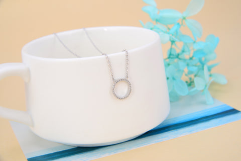 Hoop Circle Necklace 925 925k Sterling Silver gold white rose Pandora women necklace jewelry jewellry neclace with cross heart rack cherry circle rubber hemp gift birthdayOnthologie fine jewelry Onthologie Onthologie jewelry 18k gold diamond
