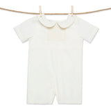 Smocked ivory heirloom shortall