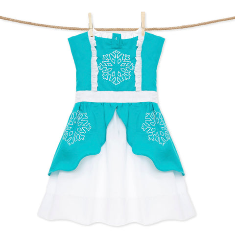 Embroidered Snowflake Princess dress - Elsa Frozen inspired