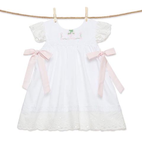 Easter Basket Embroidered Dress