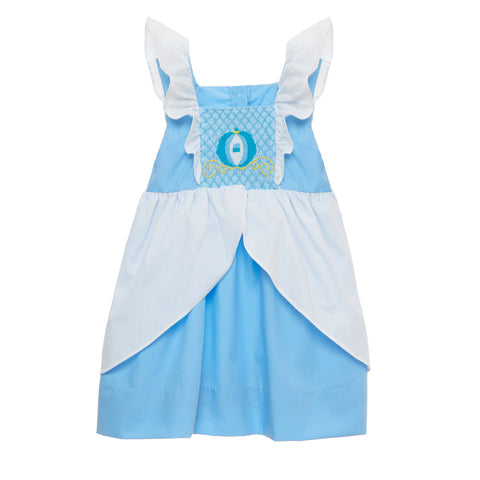 Smocked Glass slipper Princess Dress - inspired by Cinderella