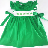 Shamrock smocked Emmy dress - St. Patrick's Day