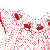Cherry Smocked Bishop Dress