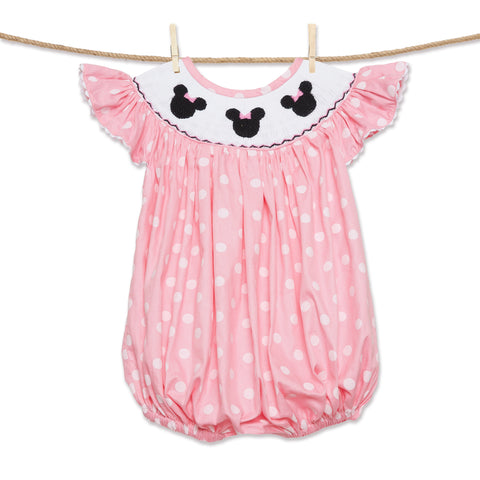 Light Pink Mouse Ears Romper