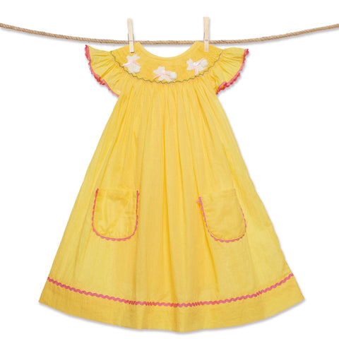 Yellow Easter Bunny Bishop Dress