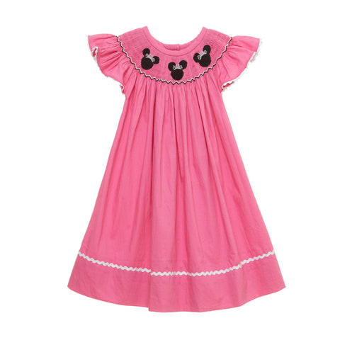 Smocked Dress - Princess Mouse Ears Bishop
