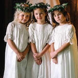 Ivory Smocked Heirloom bishop Dress