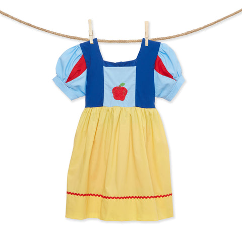 Embroidered Apple princess dress - inspired by Snow White