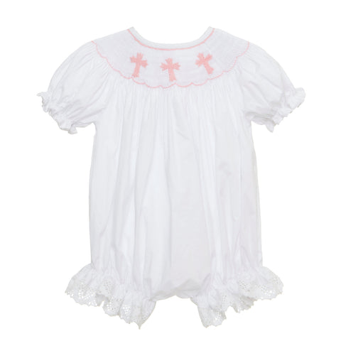 Smocked Cross Romper