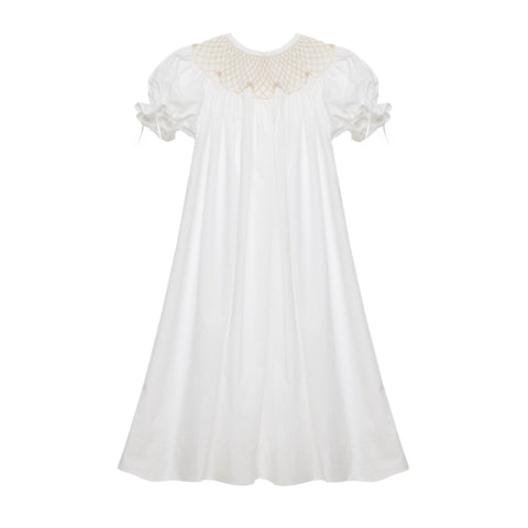 White Smocked Heirloom Dress
