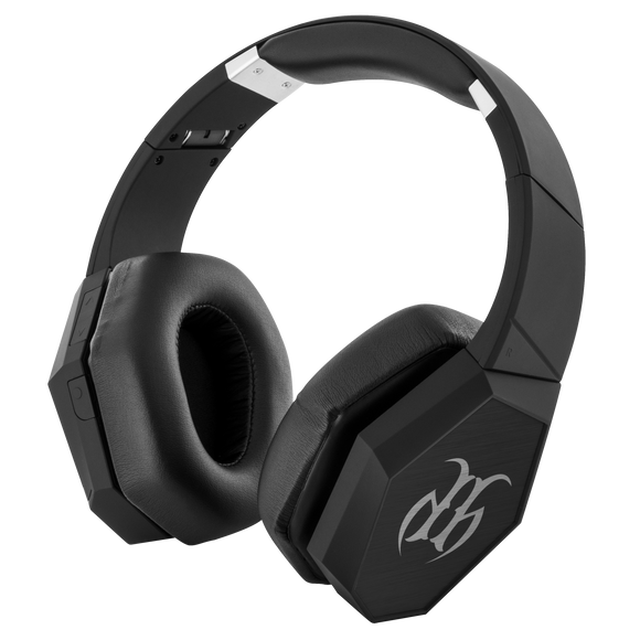 Hustle Harder Bluetooth Headphones BLK/WT HH