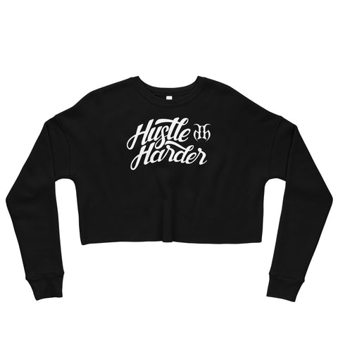 Hustle Harder Fleece Crop Sweatshirt